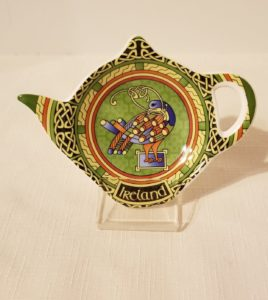 Celtic Peacock Tea Bag Holder